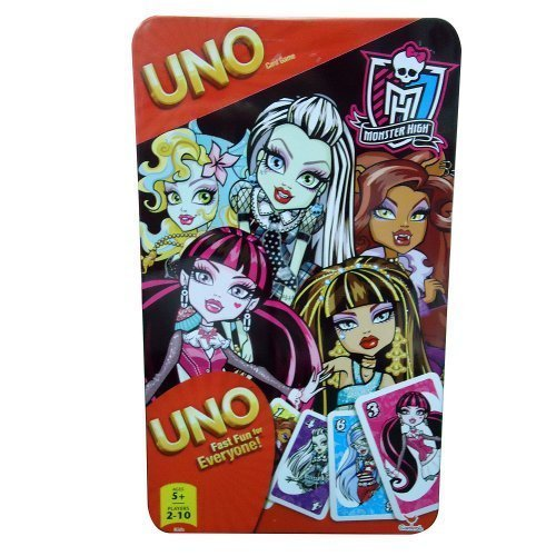 UNO Card Game in Tin Box: Monster High