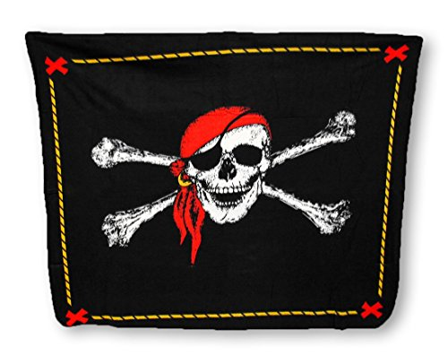 Super Soft Jolly Roger Pirate Fleece Throw Blanket 60 X 50 ()
