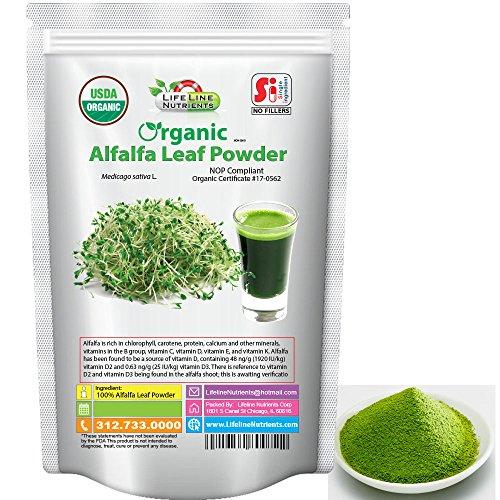 Organic Alfalfa Grass Powder - 2.5kg (5.5 lb) - Free Shipping by Lifeline Nutrients