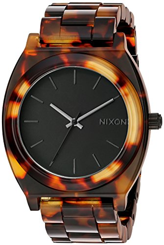 Nixon Women's A327-646 Plastic Analog with Black Dial - Tortoise Acetate