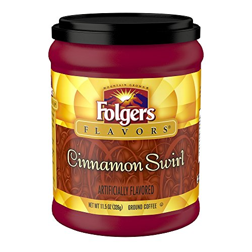 Large Swirl - Folgers Cinnamon Swirl Flavored Ground Coffee, 11.5 Ounce (Packaging May Vary)