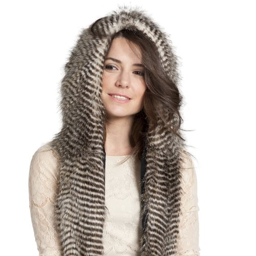 CHIC FAUX FUR ANIMAL SKI HATS WINTER SNOW HOODS NIGHT OWL...