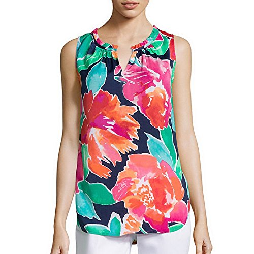 liz-claiborne-sleeveless-ruffle-blouse-size-pxl-navy-floral