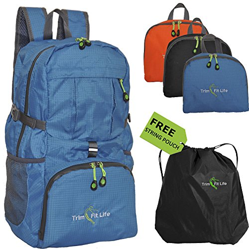 TravPack-30L Top Rated Best Lightweight Travel Backpack in USA. Handy Foldable Durable Hiking Camping Daypack