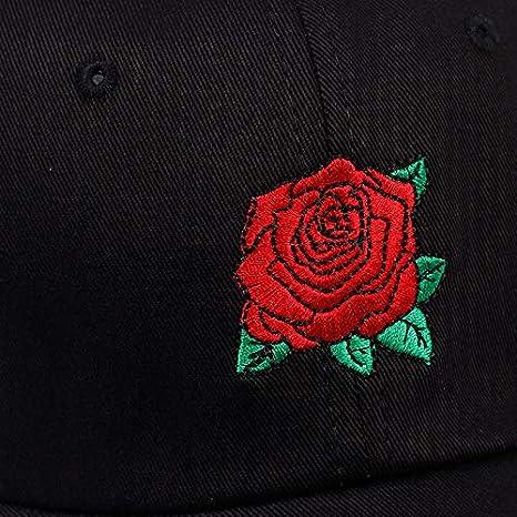 SUNNYBQM Casquette De Baseball Rose Rose Fleur Casquette De Baseball Femmes Snapback Cap avec Chapeau De Papa Femme Hip Hop Sun Summer Marque Chapeaux