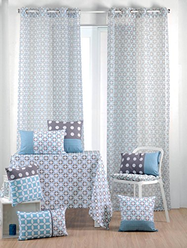 Amazon.de: Lovely Casa Suomi Français Voile, Polyester, Grau, 260 x ...