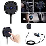 Bluetooth FM Transmitter, Wireless Free Car Kit In-Car Radio Adapter Wireless Bluetooth LCD Audio FM Receiver Modulator MP3 Player USB Car Charger with Remote for iPhone and Most Android Smartphones
