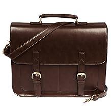 ECOSUSI Vintage PU Leather Briefcase Shoulder Business Messenger Bags Tote