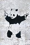 "Banksy Panda Guns Graffiti Mini PAPER Poster Measures 23.5"" x 16.5""Inches ( 59.4 x 42 cm ) approx"
