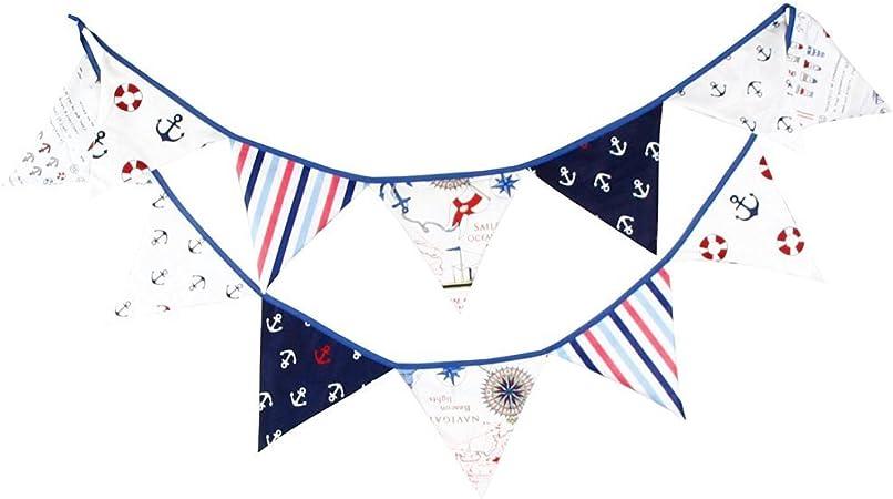 G2PLUS 3M banderines,Guirnalda de banderines con 12 banderines,para dormitorio de fiesta de cumpleaños o decoración de bodas(Azul): Amazon.es: Hogar