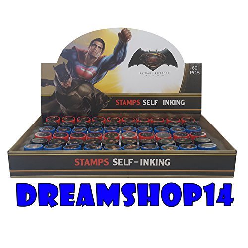 Batman VS Superman Self Ink Stampers Full Party Favor Box 60pcs
