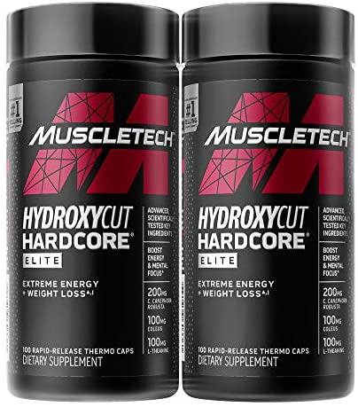 Weight Loss Pills for Women & Men | Hydroxycut Hardcore Elite | Weight Loss Supplement Pills | Weightloss + Energy Pills | Metabolism Booster for Weight Loss | 200 Pills (packaging would possibly range)