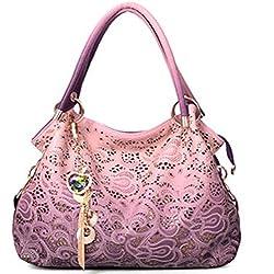 ORICSSON Fashion Women Top-handle Tote Big Shoulder Bag PINK