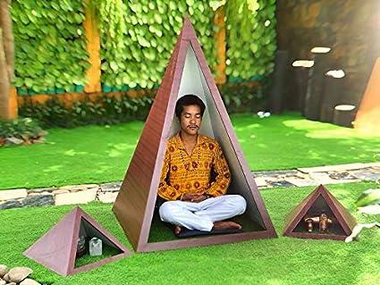 Nubian 3 feet base wooden Meditation Pyramid combo pack Rose ...