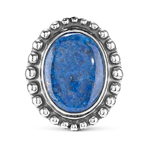American West - Sterling Silver Denim Lapis Interchangeable Magnetic Insert - Treasures Collection