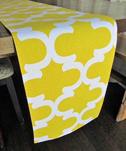 Trellis Patterned Runner Dandelion Yellow