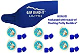 Ear Band-It Ultra Swimming Headband with Putty Buddies earplugs - 6 Pair Soft Silicone Premium Ear Plugs - The Best Swim Headband and Earplugs - Doctor Recommended (Blue, Small)