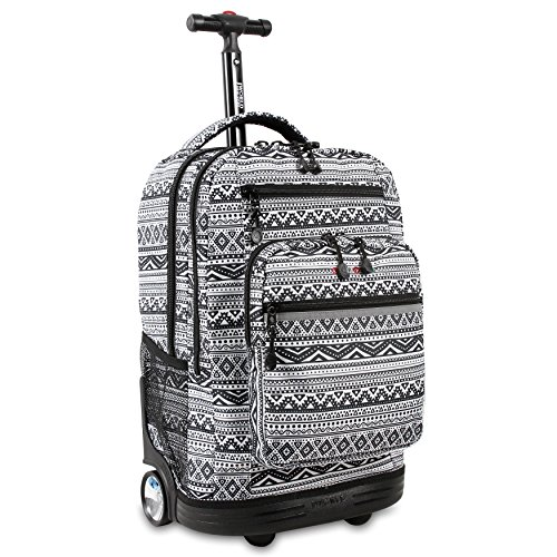 Wheels Rolling Backpack (J World New York Sundance Laptop Rolling Backpack, Tribal)
