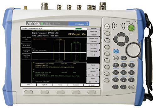 (Anritsu MT8221B BTS Master Handheld Spectrum Analyzer Cable Antenna Case Manual)