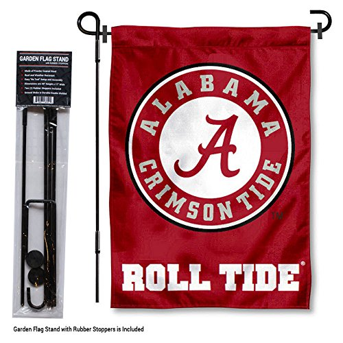 College Flags and Banners Co. Alabama Crimson Tide Garden Flag with Stand Holder
