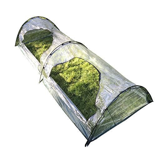 GardenSkill Polytunnel Greenhouse – Garden Poly Grow Tunnel Cloche for Tomatoes Veg Fruit Plants (2m x 0.8m x 0.35m high…