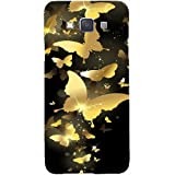 Casotec Golden Butterfly Pattern Design Hard Back Case Cover for Samsung Galaxy A3