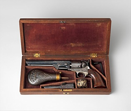 Colt Model 1851 Navy Percussion Revolver Serial Number 29705 with Case and...