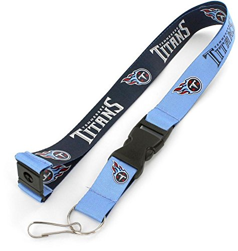 aminco NFL Tennessee Titans Reversible Lanyard, Navy/Light Blue