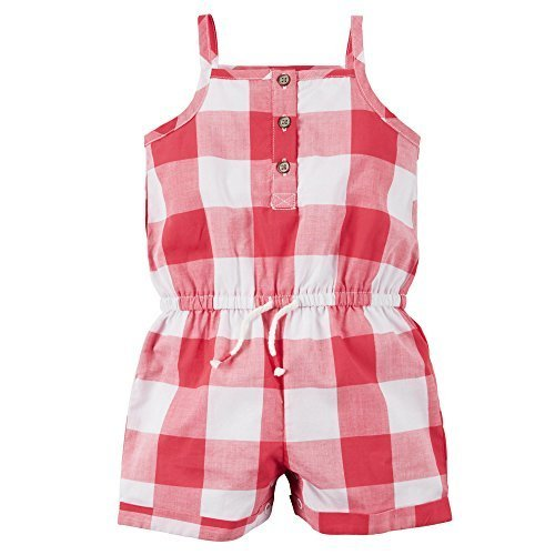 Price comparison product image Carter's Tank Romper,  Red Gingham,  3 Months