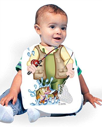 Fish Bib - Just Add A Kid 135 Fisherman Baby Oversize Bib 0-18 Months White