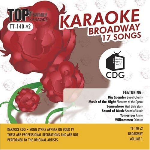 Top Tunes Karaoke CDG Broadway Vol 1 TT-140 v2; Miss Saigon, Cats and Phantom of The Opera (Top Karaoke Tunes)