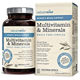 Cheap NatureWise Women's Brain Support Multivitamin — Whole Foods Complex with Vitamins & Minerals for Healthy Heart, Bones (⬇ Watch Product Video in Images) Cognizin, Brain Energy, Focus & Memory, 60 Ct
