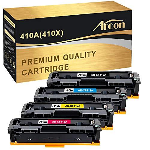Arcon Compatible Toner Cartridge Replacement for HP 410A CF410A 410X CF410X M477FDW HP Laserjet Pro MFP M477fdw M477fnw M477fdn M477 Pro M452dn M452dw M452nw CF410A CF411A CF412A CF413A Toner Printer