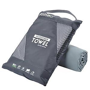 Rainleaf Microfiber Towel Beach Towel,Perfect Tea Towels,Toga Gym Egyptian Travel Towel,Quick Dry – Super Absorbent…