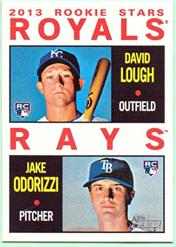 Jake Odorizzi, David Lough 2013 Topps Heritage Rookie Stars Rookie #408 - Kansas City Royals, Tampa Bay Rays