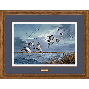 Turbulence Over Delta Marsh Canvasbacks & Redheads David Maass Limited Edition Framed Print of 450