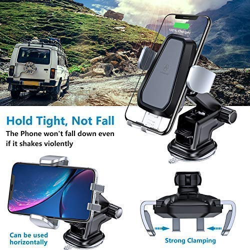 Samsung S9 S8 Note9 CHD0000125 Windshield Dashboard Air Vent Phone Holder Compatible with iPhone Xs XR 8 Plus 10W//7.5W Fast Charging /& Standard 5W Charger Auto-Clamp Qi Car Mount VANMASS Wireless Car Charger