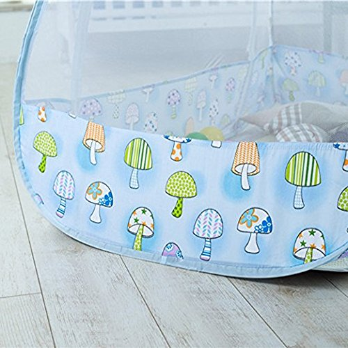 AUMEY Zippered Baby Mosquito Net Foldable Baby Bed Kids Tent Nursery Crib Canopy Netting Folding Cot Mosquito Net (592935inch) by AUMEY (Image #7)