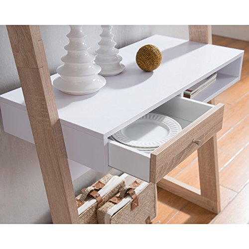 Furniture of America Tali Contemporary 2-tone Leaning Writing Desk by Furniture of America