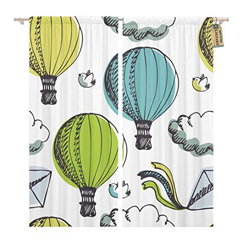 hot air balloon window curtains - 9