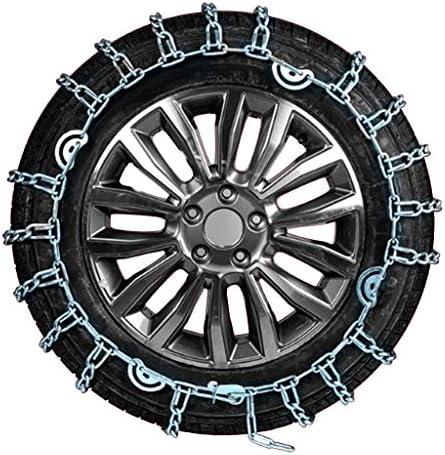 携帯用緊急牽引車のスノータイヤの滑り止めの鎖 タイヤチェーン 金属亀甲チェーン スノーチェーン65分の175/14冬のクラシック合金鋼のスノーチェーン車ホイールタイヤの、大胆な暗号化スノーチェーン TPUバンおよび軽トラック用ユニバーサルフィットタイヤ繰り返し使用