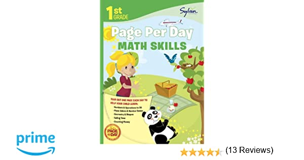 First Grade Page Per Day: Math Skills (Sylvan Page Per Day Series ...