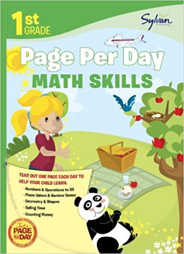 Workbook first grade worksheets pdf : First Grade Page Per Day: Math Skills (Sylvan Page Per Day Series ...