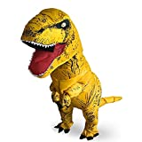 T-Rex Originals T-Rex Costume Inflatable Dinosaur Suit Halloween Adult Inflatable Costume (Yellow)