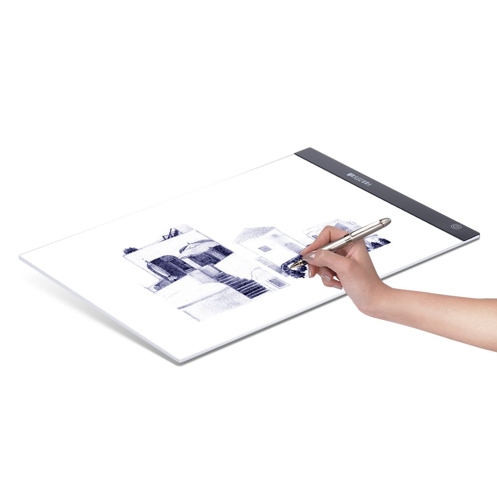 Aibecy A4 Ultra-thin Portable LED Light Box Drawing Tracer Table Painting Tracing Pad Copy Board Panel with Stepless Dimmable Brightness Memory Function