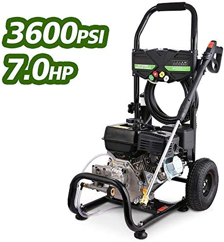 Mabay 3600PSI 212CC Gas Pressure Washer, 2.8GPM Gas Powered Power Washer, 2 Years Warranty Black