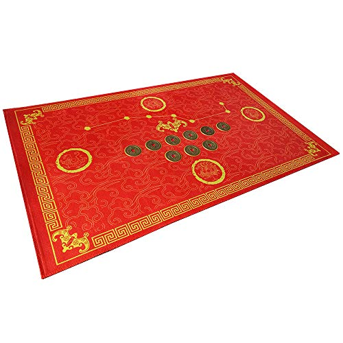 Feng Shui Good Luck Door Mat/Outdoor/Front Door/Bathroom (Light red) (Red Front Door Mat)
