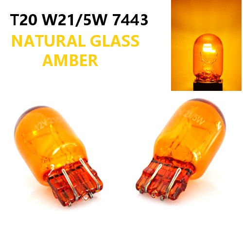 2 x T20 W21//5W 7443 Bright Amber//Orange//Yellow Left Right Turn Signal Indicator Car Bulbs 12V