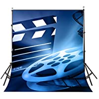 Lyly County 5×7ft Polyester Movie Reel Backdrop Camera Clipart Photography Backdrops Studio Photo Props Wall (Upgrade material) LY057