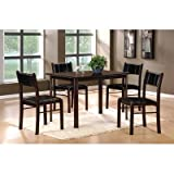 5-Piece Pack Dinette of Albany Collection by Homelegance